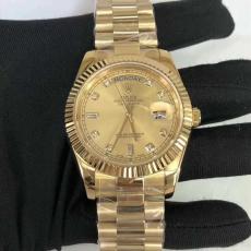 374劳力士.星期日历型系列B346258947003 18K包金 钢带 机械男表真金真钻手表