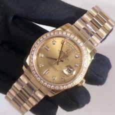 380劳力士.日志型系列.18K包金B346658958003 钢带 机械男表真金真钻手表