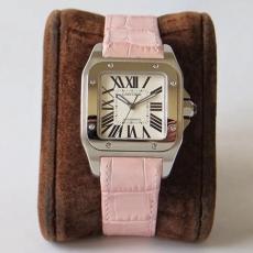 【复刻手表】652卡地亚.桑托斯系列B131777915009 皮带 机械女表 KZ台湾厂
