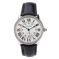 【顶级复刻手表】474卡地亚.RONDE DE CARTIER系列.正品升级B34678550009321 皮带 机械男表