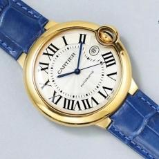 【顶级复刻手表】476卡地亚.蓝气球B11077464910501 皮带 机械男表