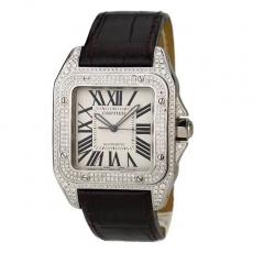 【顶级复刻手表】475卡地亚.山度士系列.正品升级34674550009431 皮带 机械男表