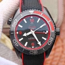 296欧米茄.海马系列 深海之黑13185232925503 橡胶带 机械男表 VS