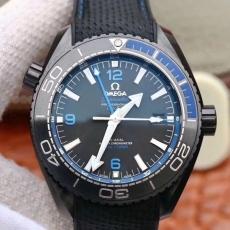 298欧米茄.海马系列 深海之黑13185232925503 橡胶带 机械男表 VS