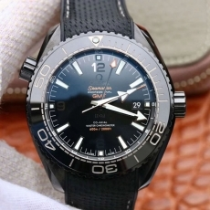 297欧米茄.海马系列 深海之黑13185232925503 橡胶带 机械男表 VS